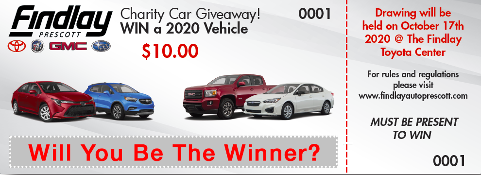 2020 New Car Giveaway - Findlay Auto Prescott